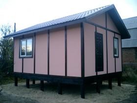 Фотогалерея - Розовый домик «под фахверк»