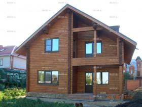 Дом из клееного бруса зимой