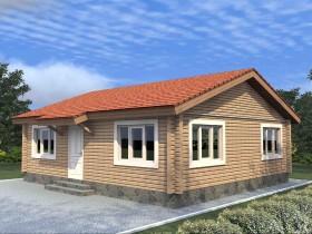 Проект дома из бруса - Молодежный-1 65,83 м2.