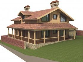Проект дома из бруса - Комфорт