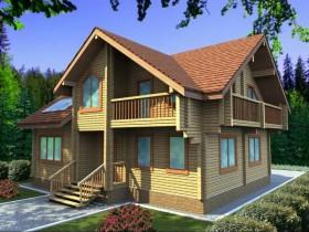 Проект дома из бруса - Интермедия 206,11 м2