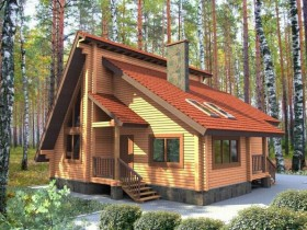 Проект дома из бруса - Веста 79,94 м2.