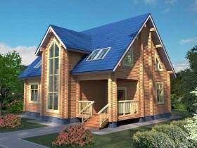 Проект дома из бруса - Финляндия 183,87 м2.