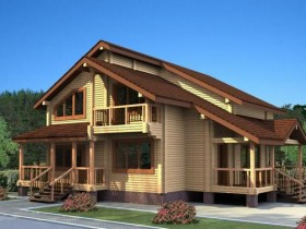 Проект дома из бруса - Бавария 206,45м2