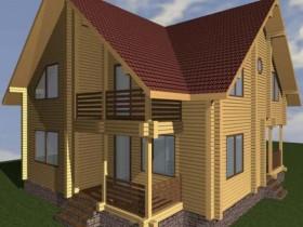 Проект дома из бруса - Уютный 169,01 м2.