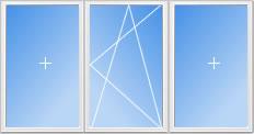 Схема 2. Окно трехстворчатое
