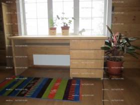 Беседки и мебель из бруса - Стол деревянный письменный.