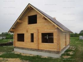 деревянный домик у реки 4 миниатюра