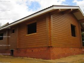 Фотогалерея - Строительство деревянного дома в саду.