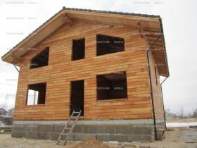 Фотогалерея - Строительство дома из клееного бруса лиственницы   200м2.