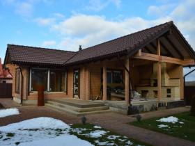 Строительство деревянной бани Дубравушка.