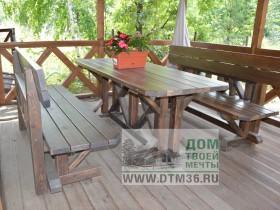 Беседки и мебель из бруса - Деревянная мебель «Бавария».