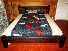 Беседки и мебель из бруса - Деревянная кровать в колониальном стиле.