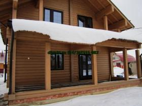 Фотогалерея - Деревянные окна и двери в деревянном доме.