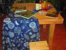 Беседки и мебель из бруса - Деревянный стол «Преферанс».