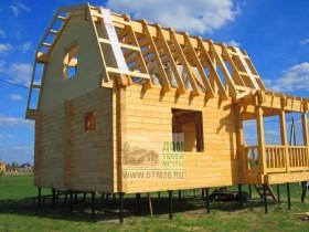 деревянный рыбацкий дом на сваях 2