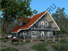перспектива деревянного дома dtm36.ru