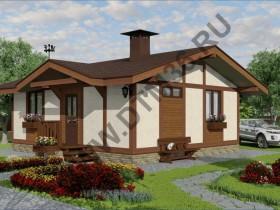 Проект дома из бруса - Проект под строительство «Радуга» 51,6м2. Новинка — антикризисное предложение.