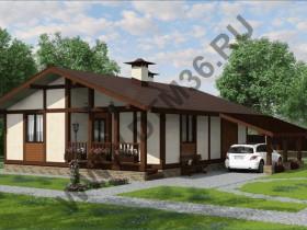 Проект дома из бруса - Проект под строительство деревянного дома по канадской технологии «Идилия».