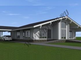 роскошный проект загороднего дома