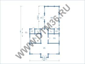 план дом с бассейном