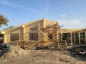 Строительство деревянной бани 70м2.