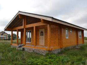 """окраска деревянного дома выполнена материалами австрийской фирмы """"ADLER"""""""