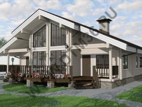 Проект под строительство деревянного дома из профилированного клееного бруса «Кольцово» 187м2.
