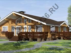 Проект под строительство деревянного дома из клееного профилированного бруса «Утренняя звезда» 150м2.