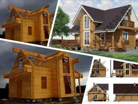 Строительство деревянного дома из клееного профилированного бруса в Рамонском районе.