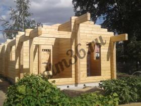 Беседки и мебель из бруса - Строительство  деревянной бани из клееного бруса площадью 58м2.