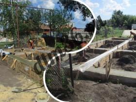 заливка фундамента под строительство бани