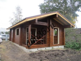 Строительство  деревянной бани из клееного профилированного бруса площадью 58м2.