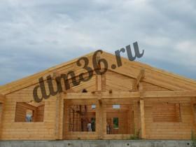 делаем крышу в деревянном доме из клееного бруса