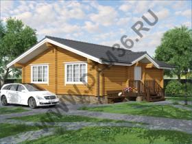 Проект дома из бруса - Проект для строительства деревянного дома из клееного профилированного бруса  «Уютная Классика» .