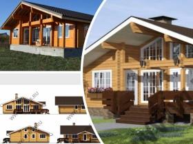 Строительство роскошного деревянного дома из клееного бруса.