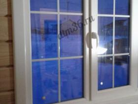 монтаж деревянных окон в доме из дерева.