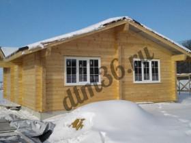 деревянный домик из клееного бруса 80м2