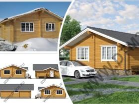 Строительство деревянного дома из клееного профилированного бруса 80м2.