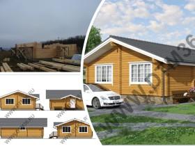 Строительство деревянного дома из клееного бруса 80м2.