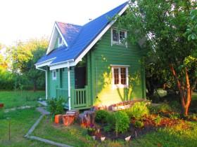 дом из клееного бруса в гармонии с природой.