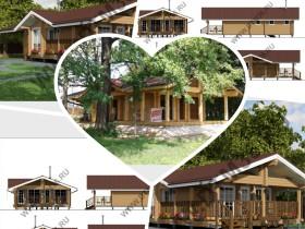 Строительство деревянной бани у реки 130м2.