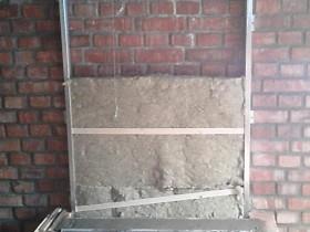 монтаж стены примыкания.