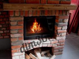 Беседки и мебель из бруса - Делаем классический   дровяной камин. Строительство дома.