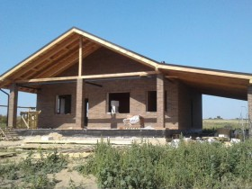 Фотогалерея - Фундамент для дома. Монолитная плита. Строительство дома из кирпича.