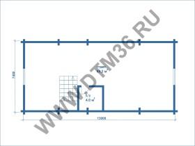 план второго этажа для строительства деревянной бани