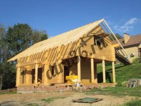 стропильная система деревянного дома.