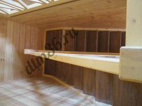 деревянная лестница, ступени из дуба.