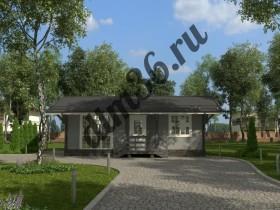 каркасный дом вид 1 dtm36
