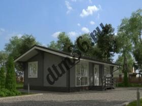 Проект дома из бруса - Проект для строительства дачного дома  по каркасной технологии 56м2.